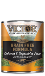 VICTOR Chicken & Vegetables Stew Cuts in Gravy Grain-Free Canned Dog Food, 13.2-oz, case of 12