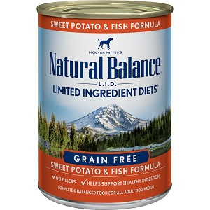 Natural Balance L.I.D. Limited Ingredient Diets Sweet Potato & Fish Formula Grain-Free Canned Dog Food
