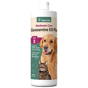 NaturVet Glucosamine DS Liquid with Chondroitin Hip & Joint Level 2 Moderate Formula Dog & Cat Liquid Supplement