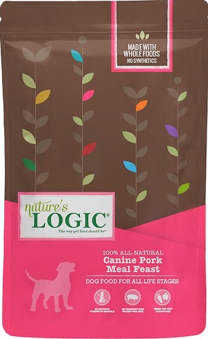 Nature's Logic Canine Pork Meal Feast All Life Stages Dry Dog Food