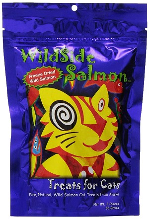 WILDSIDE PET PRODUCTS WILD SALMON CAT TREATS - SALMON