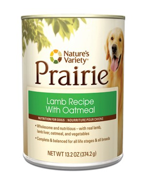 Nature's Variety Prairie Lamb Dog Food Cans