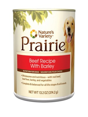 Nature's Variety Prairie Beef Dog Food Cans
