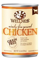 Wellness 95% Chicken Dog Food Cans